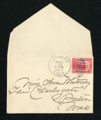 Letter from Fidelia Bridges, Canaan, Connecticut, to Anne Whitney, Boston, Massachusetts, 1907 November 26