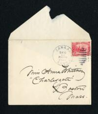 Letter from Fidelia Bridges, Canaan, Connecticut, to Anne Whitney, Boston, Massachusetts, 1907 December 10