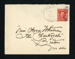 Letter from Fidelia Bridges, Canaan, Connecticut, to Anne Whitney, Boston, Massachusetts, 1908 May 2