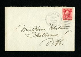 Letter from Fidelia Bridges, Canaan, Connecticut, to Anne Whitney, Shelburne, New Hampshire, 1908 September 20