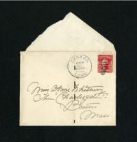 Letter from Fidelia Bridges, Canaan, Connecticut, to Anne Whitney, Boston, Massachusetts, 1908 October 24