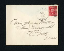 Letter from Fidelia Bridges, Canaan, Connecticut, to Anne Whitney, Boston, Massachusetts, 1906 November 18