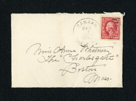 Letter from Fidelia Bridges, Canaan, Connecticut, to Anne Whitney, Boston, Massachusetts, 1910 November 30