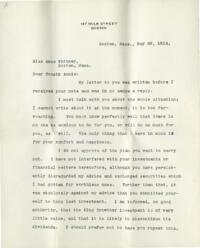 Letter from Charles Augustus Stone, Boston, Massachusetts, to Anne Whitney, Boston, Massachusetts, 1913 May 29