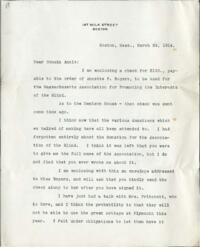 Letter from Charles Augustus Stone, Boston, Massachusetts, to Anne Whitney, 1914 March 24