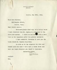 Letter from Charles Augustus Stone, Boston, Massachusetts, to Anne Whitney, Boston, Massachusetts, 1912 May 29
