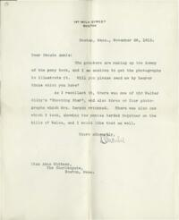 Letter from Charles Augustus Stone, Boston, Massachusetts, to Anne Whitney, Boston, Massachusetts, 1912 November 26