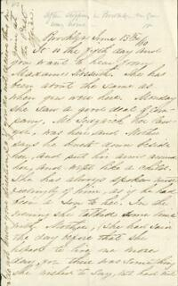 Letter from Adeline Manning, Brooklyn, New York, to Anne Whitney, 1860 June 13