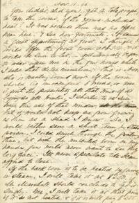 Letter from Adeline Manning, to Anne Whitney, 1866 November 11