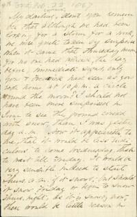 Letter from Adeline Manning, to Anne Whitney, 1867 February 21