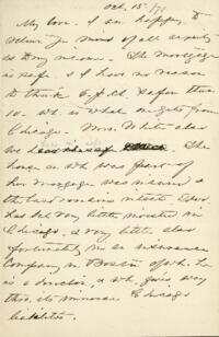 Letter from Anne Whitney, to Adeline Manning, 1871 October 15