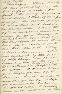 Letter from Anne Whitney, to Adeline Manning, 1871 November 30