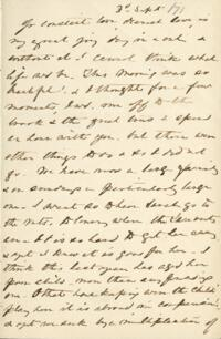 Letter from Anne Whitney, to Adeline Manning, 1871 September 3
