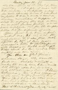 Letter from Anne Whitney, to Adeline Manning, 1876 June 11