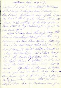Letter from Adeline Manning, Shelburne, New Hampshire, to Anne Whitney, 1877 August 15