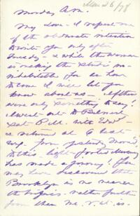 Letter from Anne Whitney, to Adeline Manning, 1878 March 26