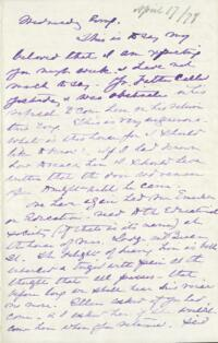 Letter from Anne Whitney, to Adeline Manning, 1878 April 17