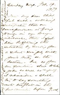 Letter from Anne Whitney, to Adeline Manning, 1879 February 16