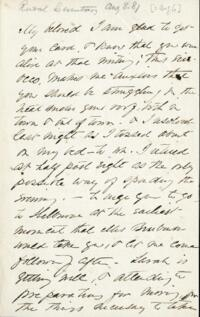 Letter from Adeline Manning, to Anne Whitney, 1881 August 06