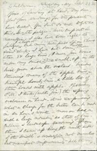 Letter from Anne Whitney, Shelburne, New Hampshire, to Adeline Manning, 1885 September 22 or 23