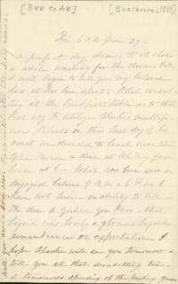 Letter from Sarah Whitney, Shelburne, New Hampshire, to Anne Whitney, 1888 June 29