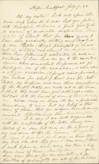 Letter from Sarah Whitney, to Anne Whitney, 1888 July 17