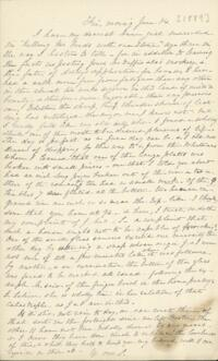 Letter from Sarah Whitney, Shelburne, New Hampshire, to Anne Whitney, Boston, Massachusetts, 1889 June 14