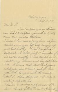 Letter from Louise Pierce, Wellesley, Massachusetts, to her parents, 1896 September 19