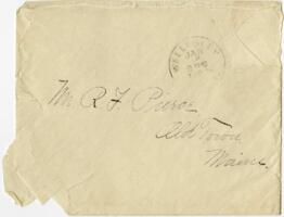 Letter from Louise Pierce, Wellesley, Massachusetts, to Mr. R.F. Pierce, Old Town, Maine, 1896 October 30