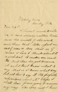 Letter from Louise Pierce, Wellesley, Massachusetts, to her parents, 1896