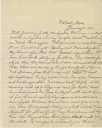 Letter from Louise Pierce, Wellesley, Massachusetts, to her parents, 1897 January 31