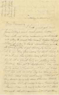 Letter from Louise Pierce, Wellesley, Massachusetts, to her mother, 1897 January