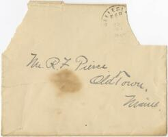Letter from Louise Pierce, Wellesley, Massachusetts, to Mr. R.F. Pierce, Old Town, Maine, 1897 January