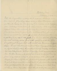 Letter from Louise Pierce, Wellesley, Massachusetts, to her family, 1897 February 7