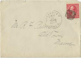 Letter from Louise Pierce, Wellesley, Massachusetts, to Mr. R.F. Pierce, Old Town, Maine, 1897 February 14