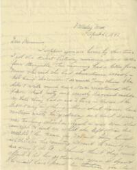 Letter from Louise Pierce, Wellesley, Massachusetts, to her mother, 1897 April 21
