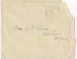 Letter from Louise Pierce, Wellesley, Massachusetts, to Mrs. R.F. Pierce, Old Town, Maine, 1897 May 23