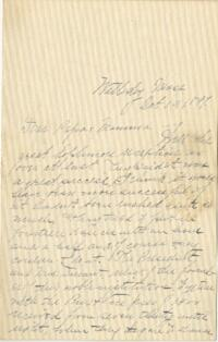 Letter from Louise Pierce, Wellesley, Massachusetts, to Mr. R.F. Pierce, Old Town, Maine, 1897 October 19