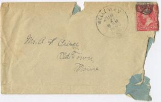 Letter from Louise Pierce, Wellesley, Massachusetts, to Mr. R.F. Pierce, Old Town, Maine, 1898 June 1