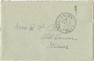Letter from Louise Pierce, Wellesley, Massachusetts, to Mrs. R.F. Pierce, Old Town, Maine, 1900 April 29