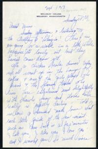 Letter from Virginia Veeder Westervelt, Wellesley, Massachusetts, to Mrs. Millicent Veeder, Schenectady, New York, 1933 September 24