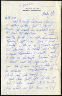 Letter from Virginia Veeder Westervelt, Wellesley, Massachusetts, to Mrs. Millicent Veeder, Schenectady, New York, 1933 October 6