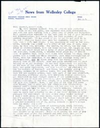Letter from Virginia Veeder Westervelt, Wellesley, Massachusetts, to Mrs. Millicent Veeder, Schenectady, New York, 1934 April 14