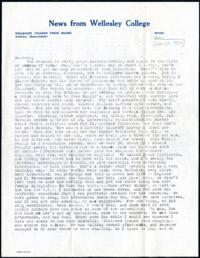 Letter from Virginia Veeder Westervelt, Wellesley, Massachusetts, to Mrs. Millicent Veeder, Schenectady, New York, 1934 November 26