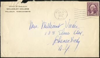 Letter from Virginia Veeder Westervelt, Wellesley, Massachusetts, to Mrs. Millicent Veeder, Schenectady, New York, 1935 January 31