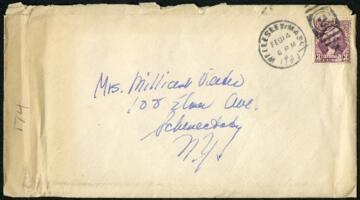 Letter from Virginia Veeder Westervelt, Wellesley, Massachusetts, to Mrs. Millicent Veeder, Schenectady, New York, 1935 February 14