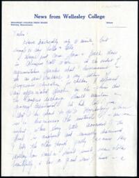 Letter from Virginia Veeder Westervelt, Wellesley, Massachusetts, to Mrs. Millicent Veeder, Schenectady, New York, 1935 April 9