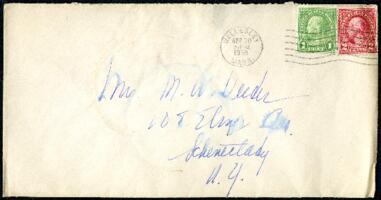 Letter from Virginia Veeder Westervelt, Wellesley, Massachusetts, to Mrs. Millicent Veeder, Schenectady, New York, 1935 April 30