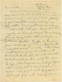 Letter from Grace Rose, Wellesley, Massachusetts, to Mrs. A.G. Rose, Martinsville, Indiana, 1928 February 10-1928 February 11