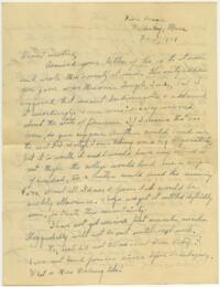 Letter from Grace Rose, Wellesley, Massachusetts, to Mrs. A.G. Rose, Martinsville, Indiana, 1928 February 15